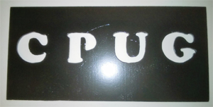 LED CPUG sign cover