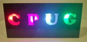LED CPUG Sign