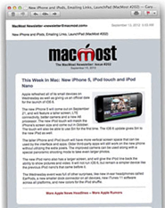 MacMost Weekly Newsletter