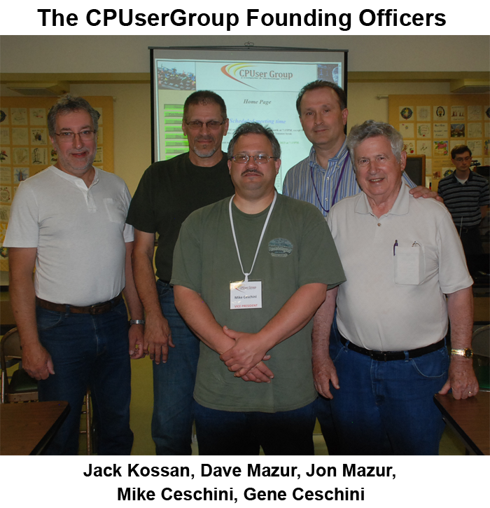 The CPUserGroup Founding Officers