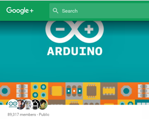 Arduino Google plus account